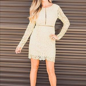 Dresses & Skirts - 🏆HP🎉Yellow Lace Bodycon Dress